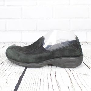 Merrell Primo Moc II Black Suede Loafers Size 6